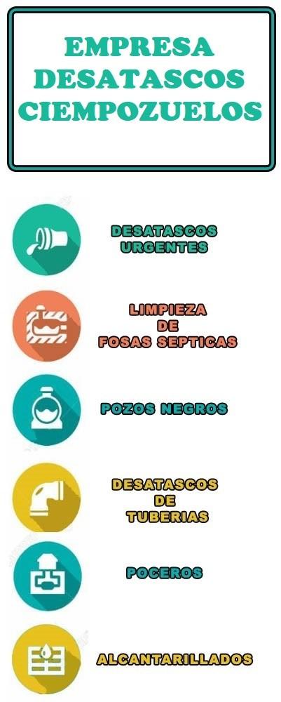 servicios de desatascos en Ciempozuelos